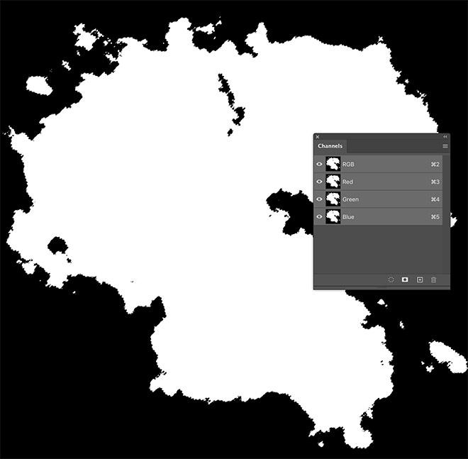 【フォトショ】ファンタジー世界の地図の作り方