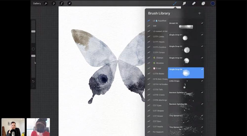 【Procreate】デジタル水彩画の描き方: Lisa Glanz