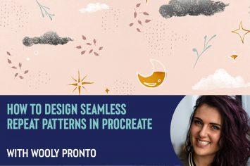 【Procreate】かわいいシームレスパターンの作り方: Wooly Pronto