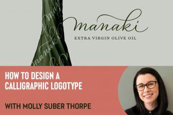 【Procreate】カリグラフィーロゴのデザイン方法: Molly Suber Thorpe
