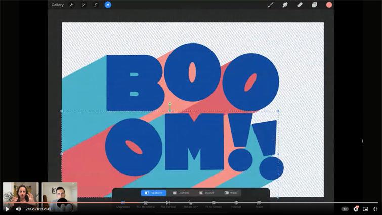 【Procreate】おしゃれなレタリング講座: ShoutBAM!