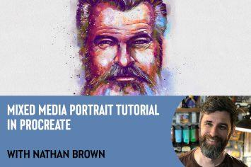 【Procreate】アーティスティックな人物画の描き方: Nathan Brown